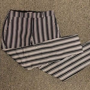 express striped mid ride columnist pant size 2